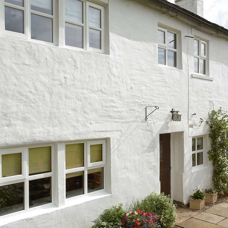 White casement windows supplied and installed
