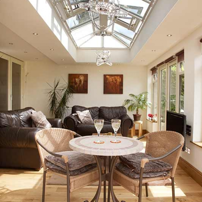 Glazed orangery roof