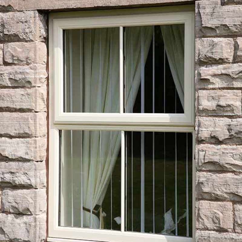 Top hung casement window in white